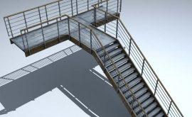 Thi công cầu thang sắt thoát hiểm quận 1