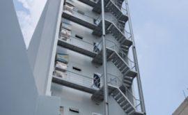 Thi công cầu thang sắt thoát hiểm quận 8 uy tín