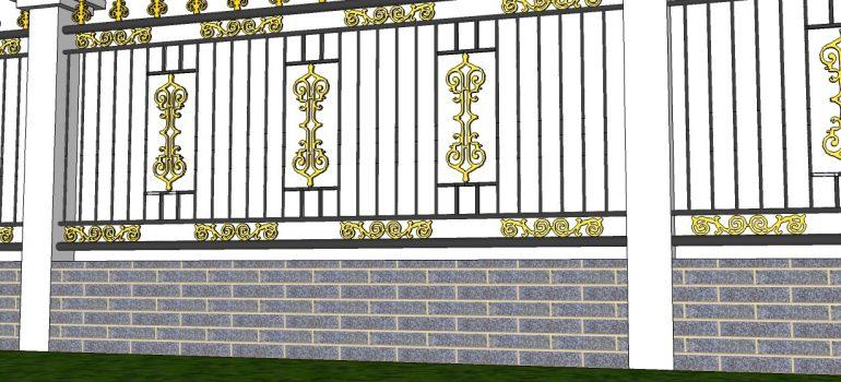 Làm sao để thiết kế mẫu hàng rào sắt hộp đẹp